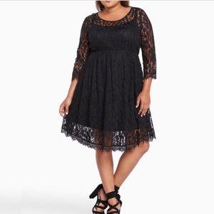 Torrid Black Lace Skater dress